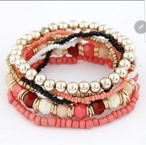 7 Layered Pink Bracelets